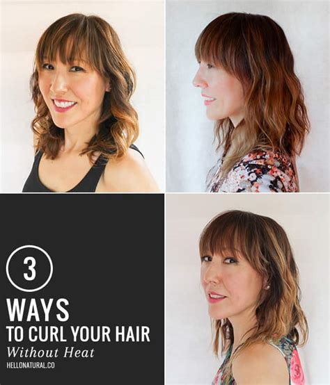curl your hair in a hurry without heat 3 ways to get boho waves without heat hello glow
