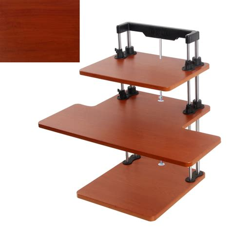sit stand desk height adjustable table computer laptop