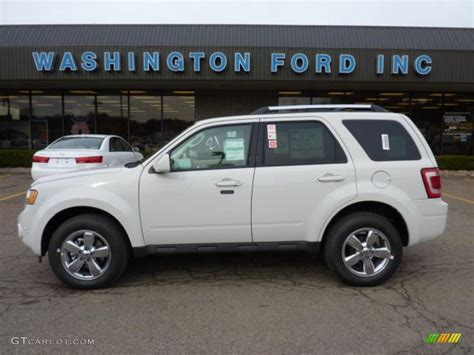 2011 Ford Escape Limited by 2011 White Suede Ford Escape Limited V6 4wd 40479390