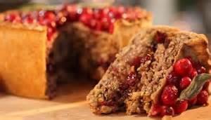 Vegetarian nut roast pie with cranberries recipe vegetarian nut