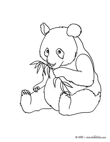 Giant Panda Coloring Pages Hellokids Com Panda Colouring Pages