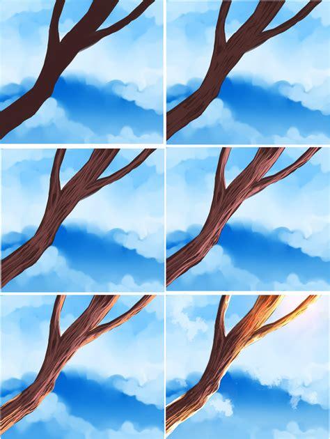 paint tool sai tree tutorial easy wood tutorial by ryky on deviantart