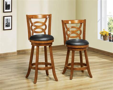 1252 oak solid wood 39 quot swivel counter stool set of 2