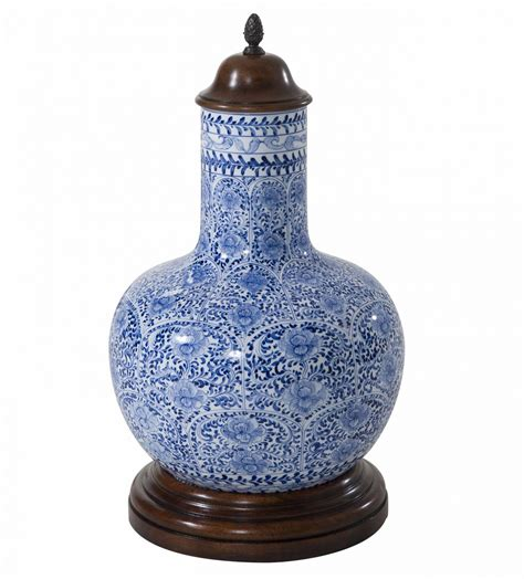 blue and white ceramic vase table top accessories from