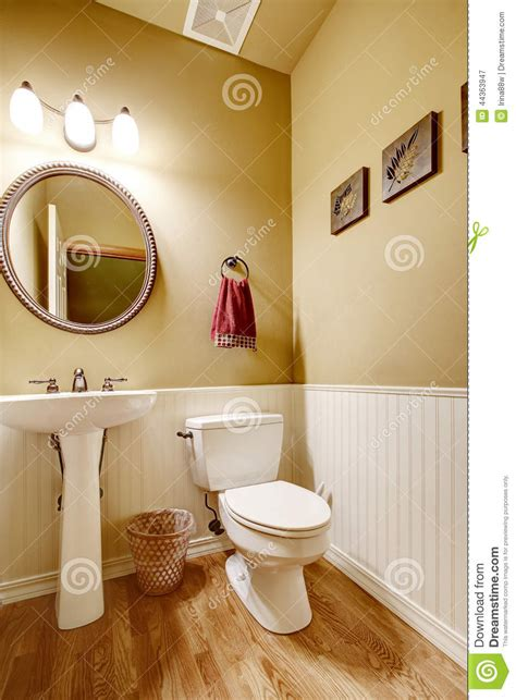bathroom wall trim small bathroom with white wall trim stock photo image