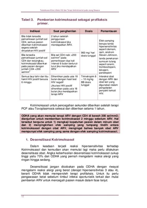 Obat Antiretroviral Arv pedoman pengobatan arv 2011