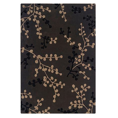 area rugs ta linon home decor trio collection charcoal and beige 5 ft x 7 ft indoor area rug rug ta08057