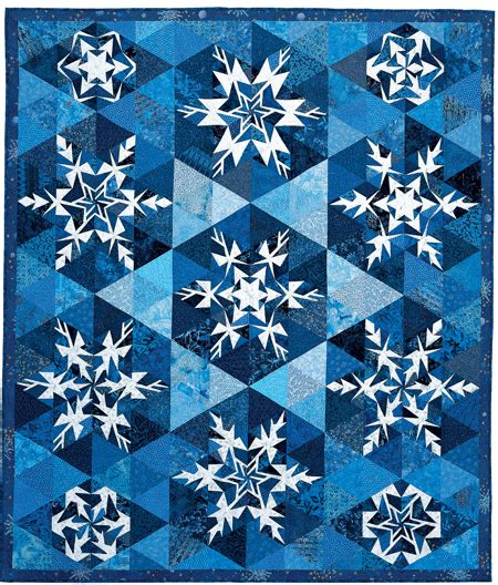 01bb23 Snowflake Patten Simple Design Blue snowflakes designed by barbara fiedler and sherri driver