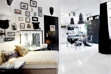 Black And White Apartment Interior Design Chic Studio Apartment With A Stylish Design