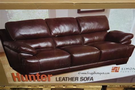 Costco Sale Simon Li Hunter Leather Sofa Loveseat Simon Li Leather Sofa Costco