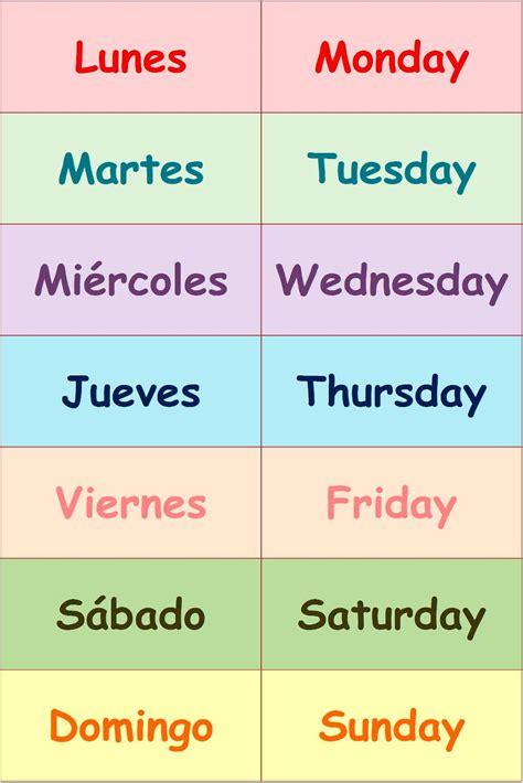 A Calendario En Inglés Soy Profesor De Ingles Y Te Ense 241 O Los Dias De La Semana