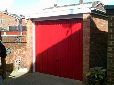 Red Up And Over Garage Door Abbey Garage Doors Garage Doors Cleveland Ohio
