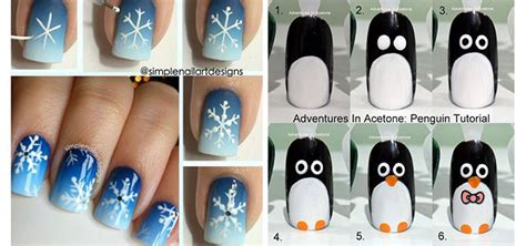 nail art tutorial for beginners step by step 15 simple christmas tree nail art designs ideas