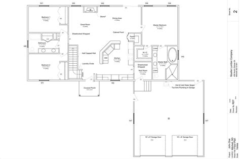 Rambler House Style Floor Plan Ideas