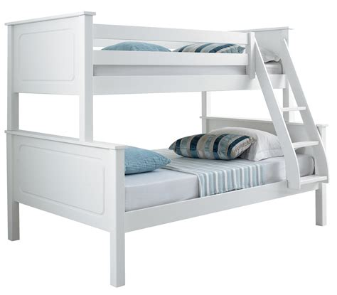 bunk bed with mattresses betternowm co uk vancouver solid pine wooden triple