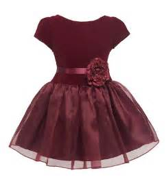 Kid collection new drop waist velvet holiday christmas party dress