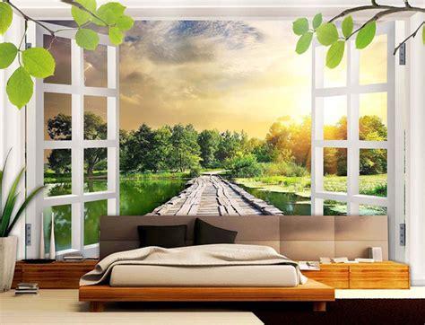 wallpaper 3d untuk rumah wallpaper eropa gaya ruang tamu minimalis window 3d desain