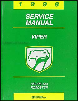 motor auto repair manual 1998 dodge viper auto manual 1998 dodge viper coupe and roadster repair shop manual