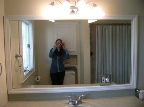 framing bathroom mirrors diy projects around the house diy framed bathroom mirror