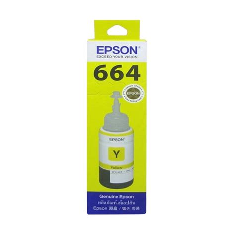 Tinta Epson 664 Warna Jual Epson 664 T6644 Original Tinta Printer Yellow 70ml