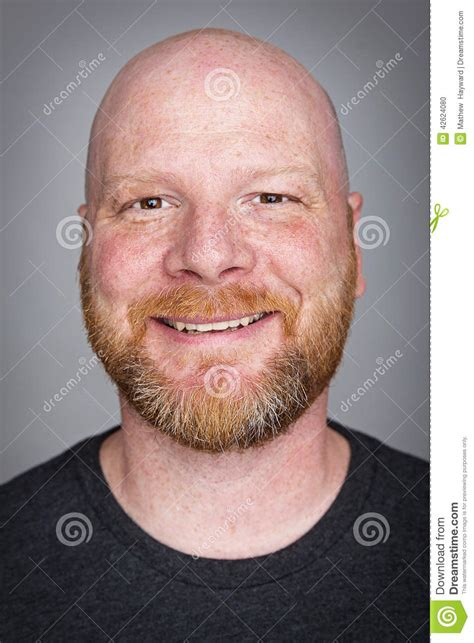 pictures of bald bald with a beard stock photo image of happy