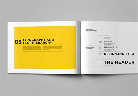 Brand Manual And Identity Template Corporate Design Brochure With Real Text Minimal And Brand Identity Manual Template