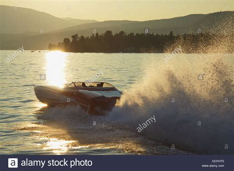 fast boats on shuswap go fast boat speeding on shuswap lake in front of a summer