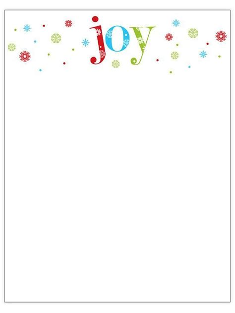 christmas letterhead templates free best template idea