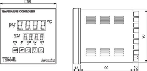 Autonics Temepratur Controller Tzn4h 14s autonics tzn4s 14c pid temperature controller 1 16 din