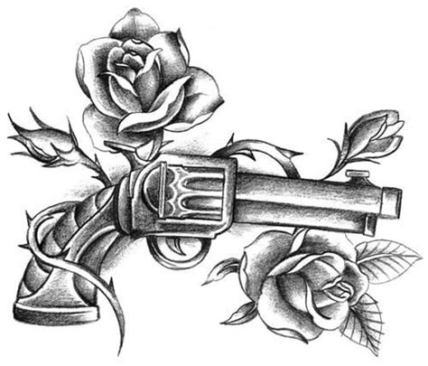 guns and roses thigh tattoo gun and roses tattoos pistols guns