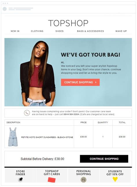 email caign layout cart abandonment email best practices the best cart