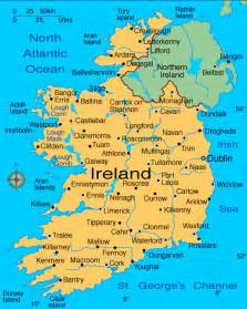 world map cities visited ireland major cities map