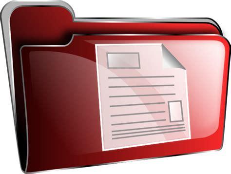red  folder icon clip art  clkercom vector clip