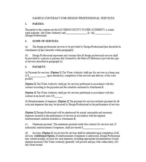 contract for professional services template 50 professional service agreement templates contracts
