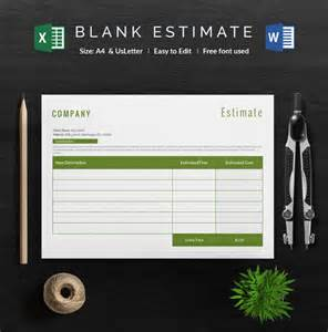 building estimate template blank estimate template 23 free word pdf excel