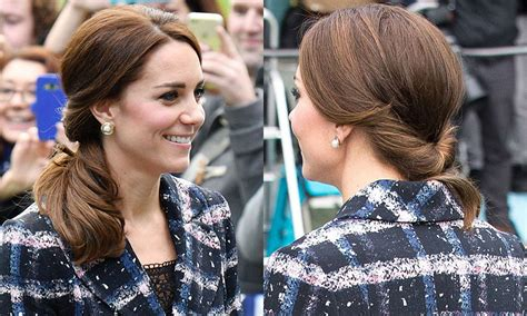 Kate Twisted by Kate Middleton Opts For A Ponytail With A Twist During