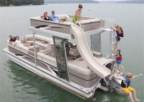 pontoon party boat with slide 25 best ideas about pontoon stuff on pinterest pontoons