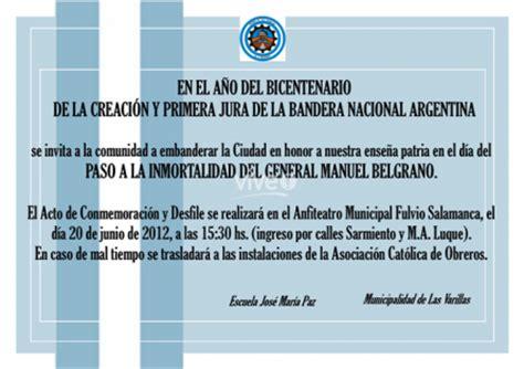 modelos de tarjetas de invitacion para el acto del 9 de julio modelos de tarjetas de invitaci 243 n para acto de grado imagui
