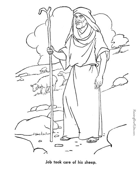 job bible coloring page to print 043