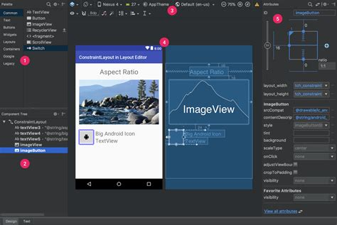 Android Studio Get Layout | build a ui with layout editor android studio