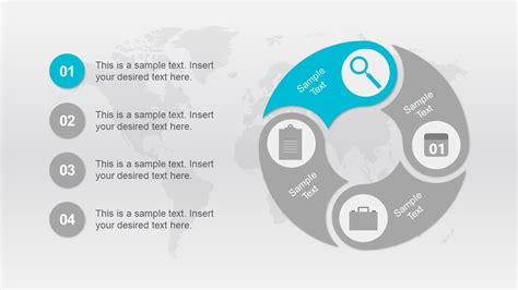 4 step 3d circular diagram template for powerpoint circular connected 4 steps powerpoint diagram slidemodel