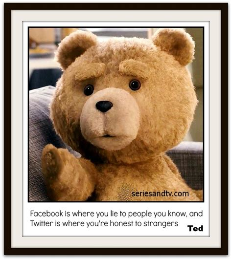 Ted Meme - facebook is where you lie to people you know and twitter