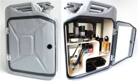 Metal Cabinets Kitchen Danish Fuel Remodeled Old Jerry Cans Into Stylish Bathroom