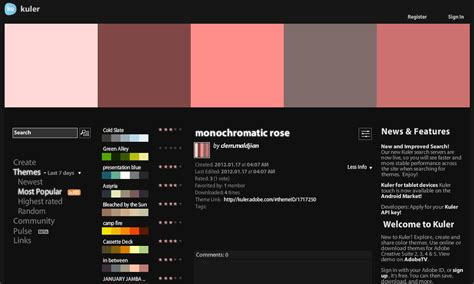 Kuler Is Cool For Colors Yourpresenceontheweb Com Web Page Color Scheme