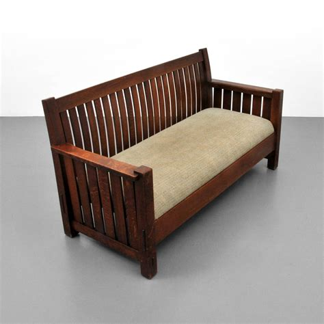 stickley settee l jg stickley settee circa 1915 on antique row west