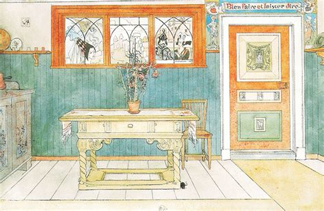 Kitchen Tiled Walls Ideas Carl Larsson And August Strindberg Mouse Interrupted