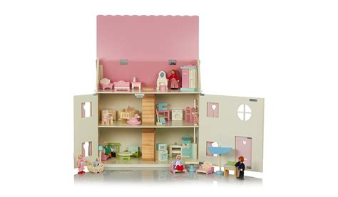 childrens dolls house furniture george home large dolls house furniture set bundle kids george at asda