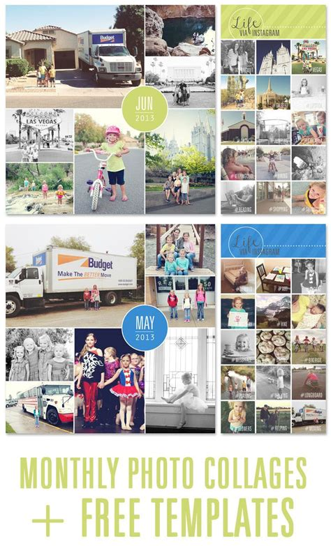 Recording Memories One Photo Collage At A Time Photo Collage Free Photo Collages And Collage Yearbook Collage Template