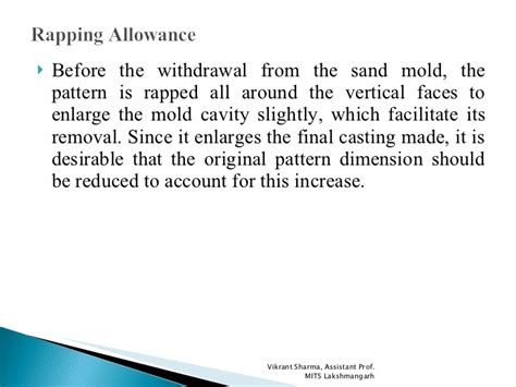 pattern allowances slideshare pattern allowances