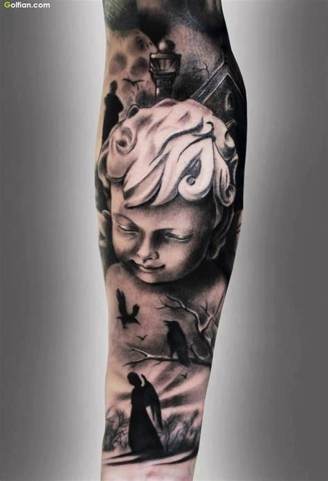 baby angel tattoos for men 50 most cutest baby tattoos beautiful 3d